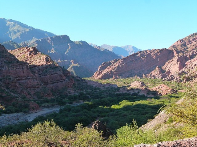 Quebrada de Cafayate near Cafayate in Northern Argentina