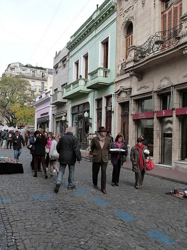Street in San Telmo, Buenos Aires