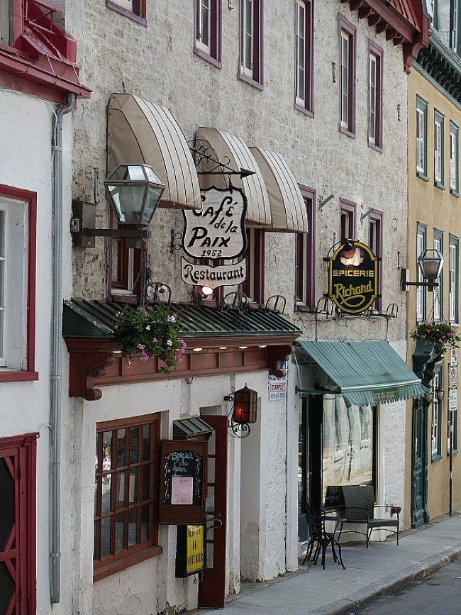 Buildings in Old Town Quebec City