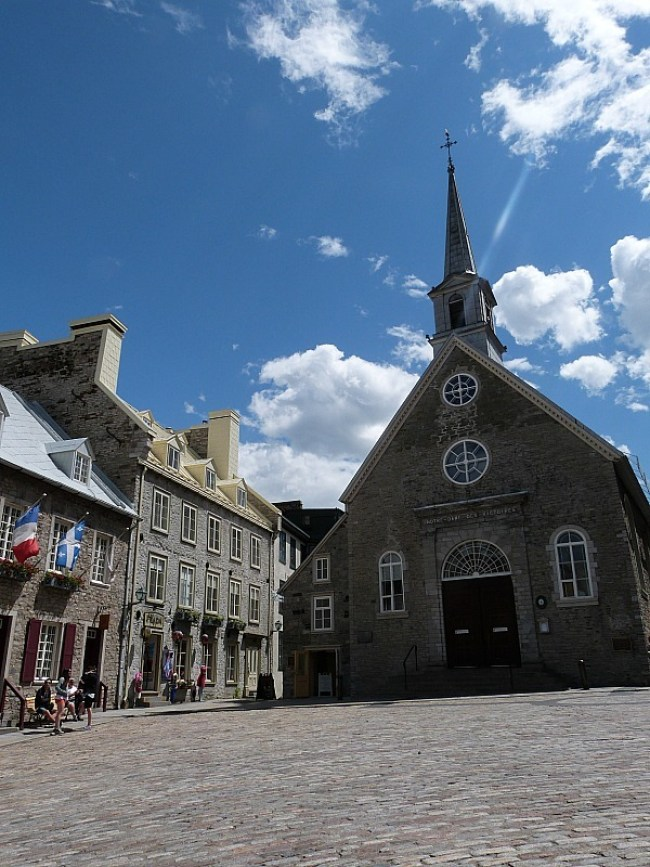 Historic church in old Town Quebec City