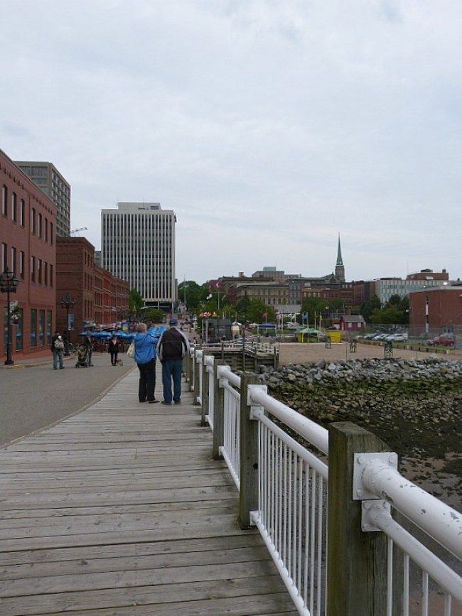 The waterfront in Saint John, New Brunswick