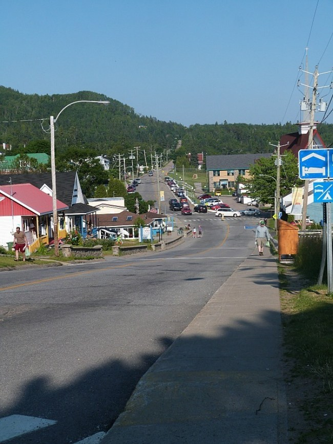 Downtown Tadoussac in Quebec, Canada