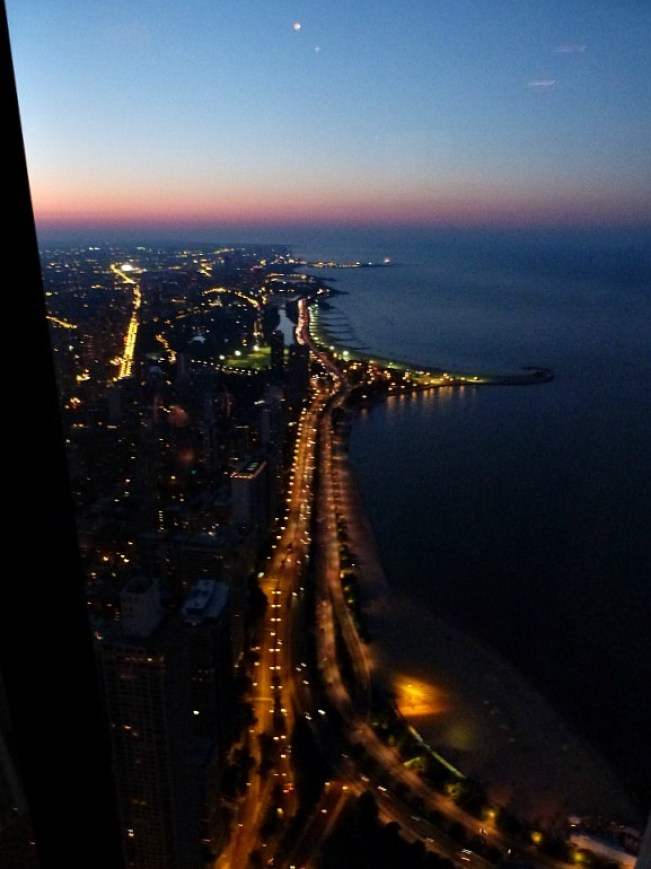 View from the Hancock Tower in Chicago
