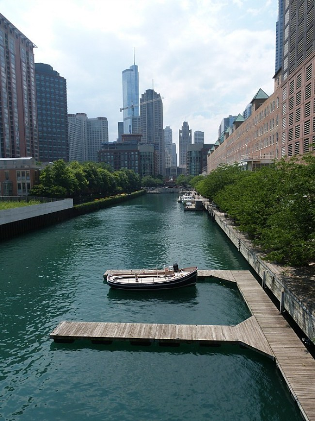 The Chicago River in Chicago