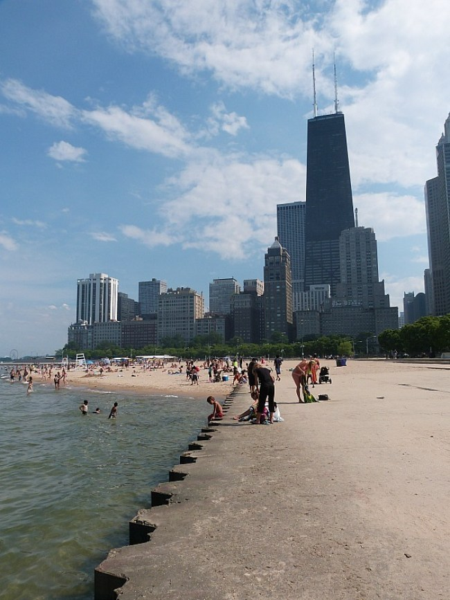 Hanging by the beach in Chicago