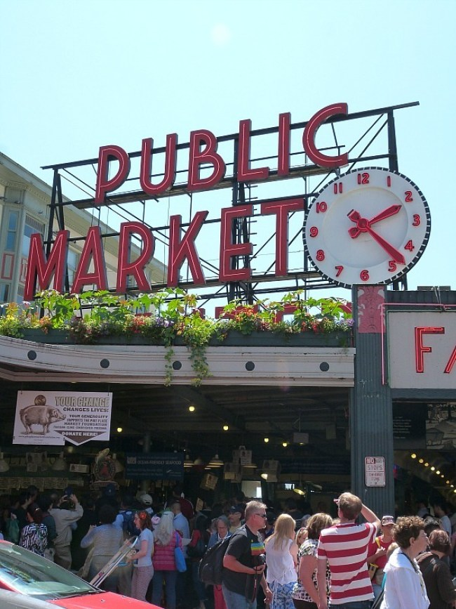 The famous Seattle Pike Place Market