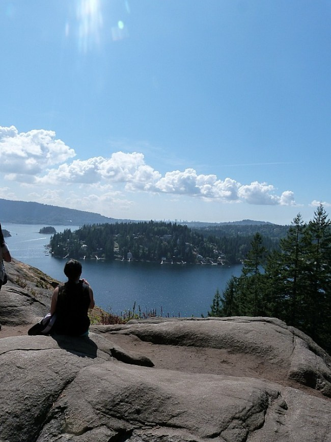 View from Quarry Rock over Deep Cove in Vancouver