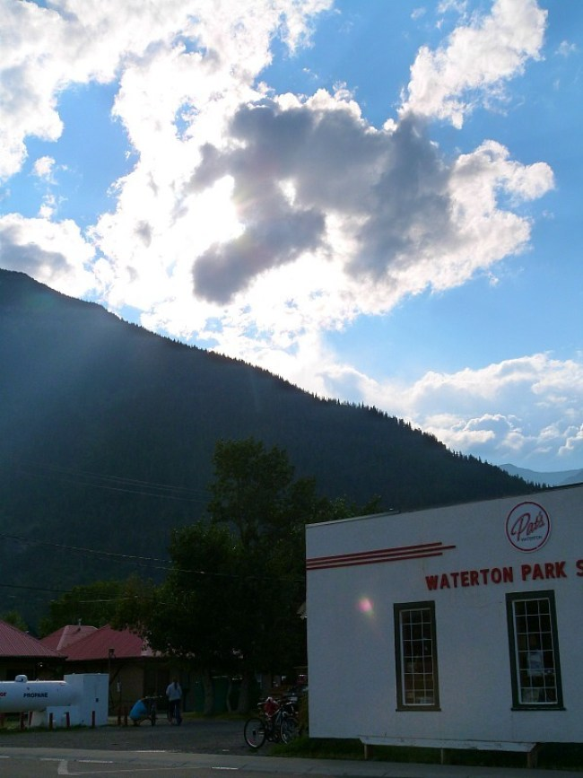 Tiny Waterton town site in Waterton Lakes National Park in Canada