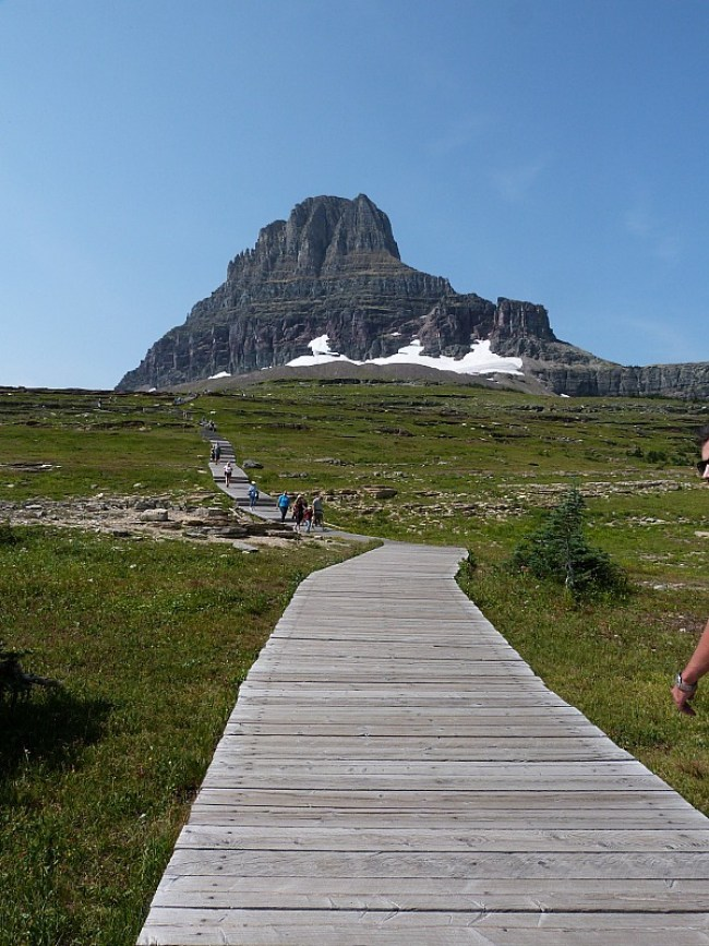 Hiking trail in Glacier National Park in Montana - a Rocky Mountain Road Trip must