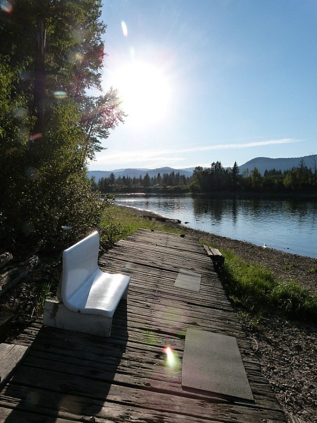 Shuswap Lake near Squilax HI Hostel where I did a Help X Placement in Canada