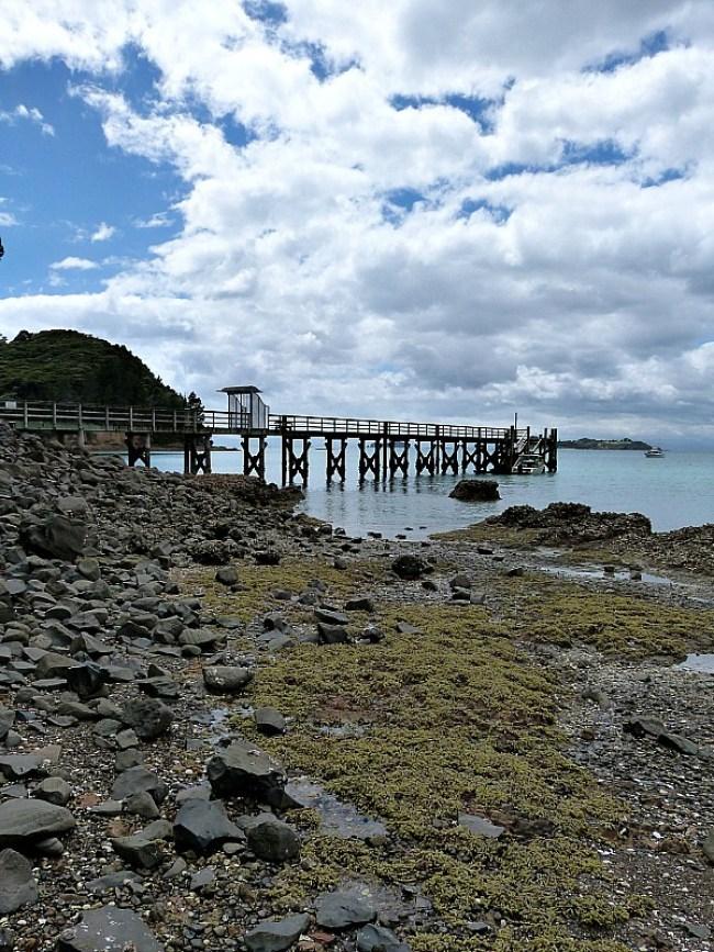 Pier on Waiheke Island in New Zealand