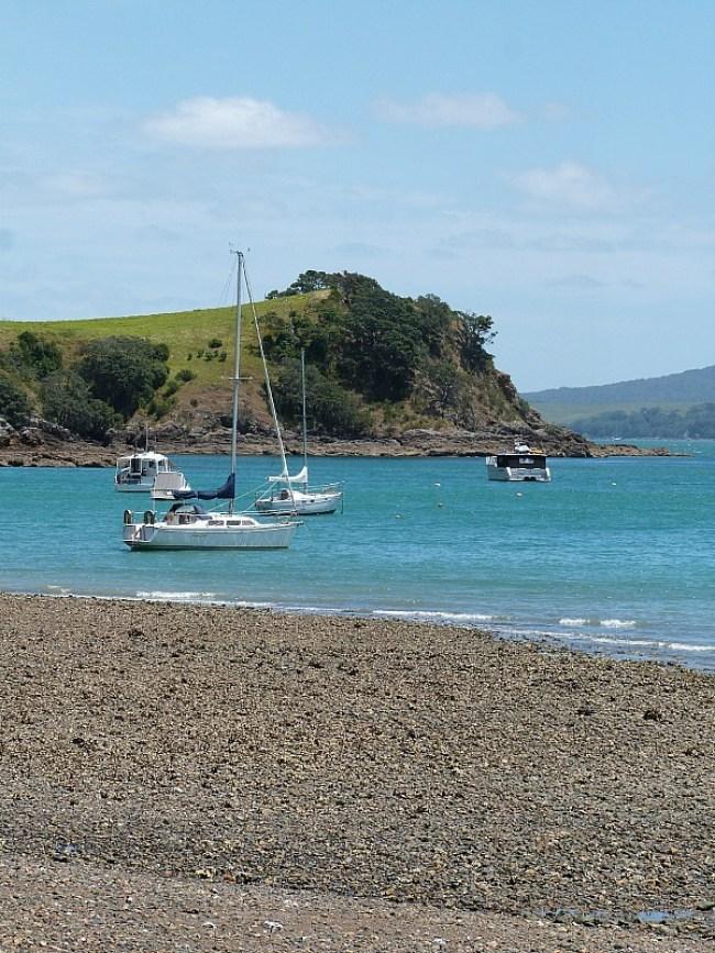Matiatia Beach on Waiheke Island in Auckland, New Zealand