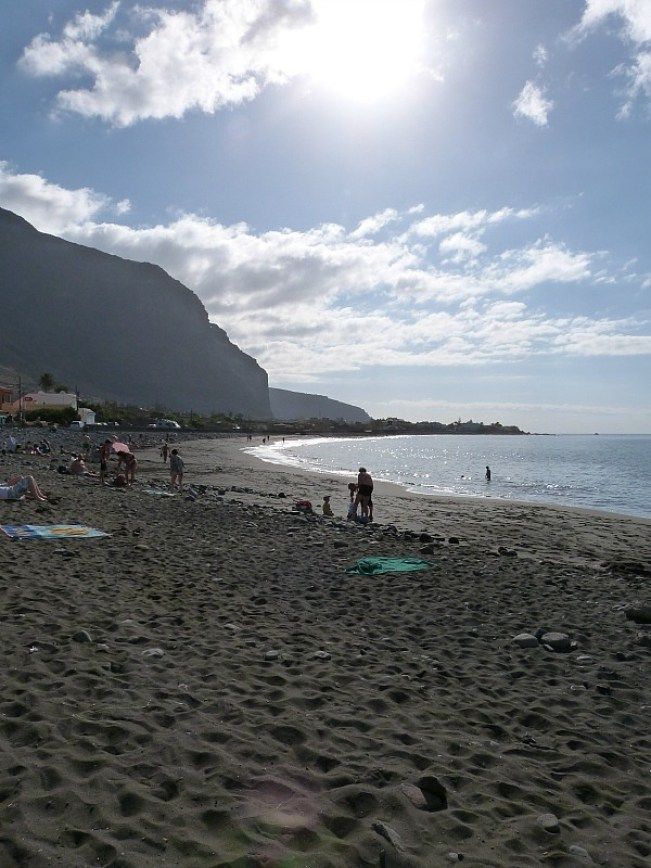 Beach at Valle Gran Rey on La Gomera in the Canary Islands