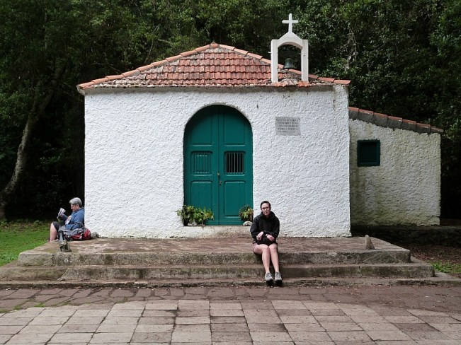 Church in Garajonay National Park on La Gomera in the Canary Islands of Spain