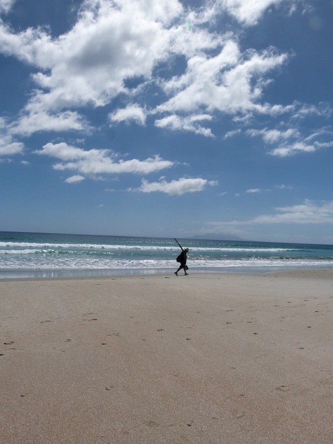 Beachcombing near Matakana, North Auckland - one of the Best Days out in Auckland New Zealand