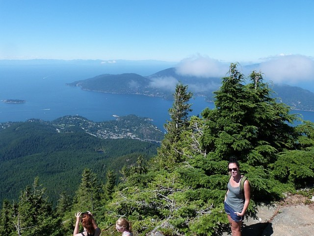 Hiking on Cypress Mountain, north of Vancouver during our Canada on a budget adventure