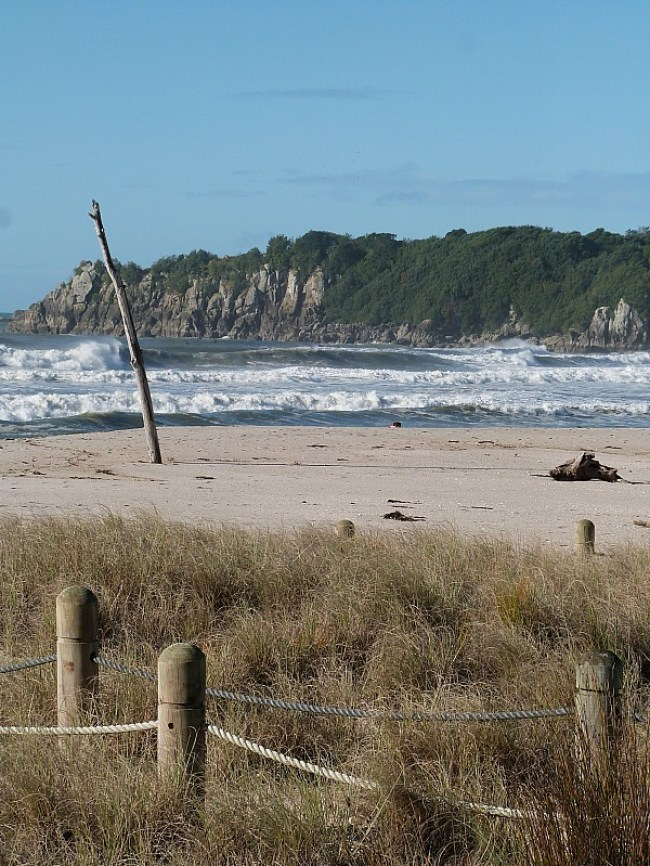 Visiting the beach at Mount Maunganui on a visit back home to New Zealand