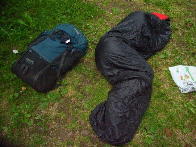 Sleeping in a park in Cesky Krumlov in the Czech Republic