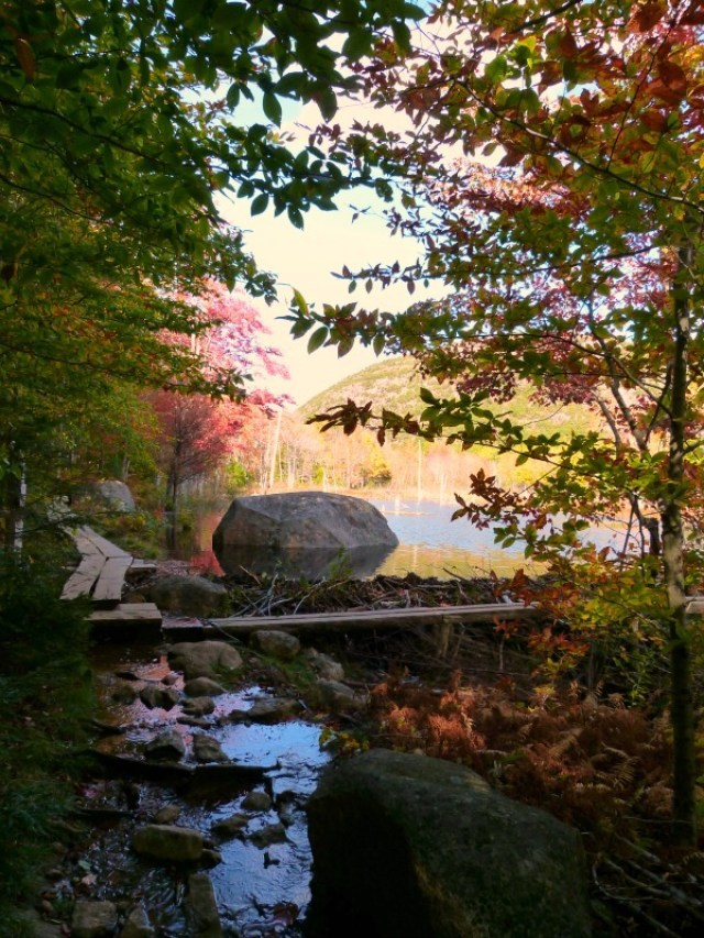 Hiking Jordan's Pond in Acadia National Park, Maine