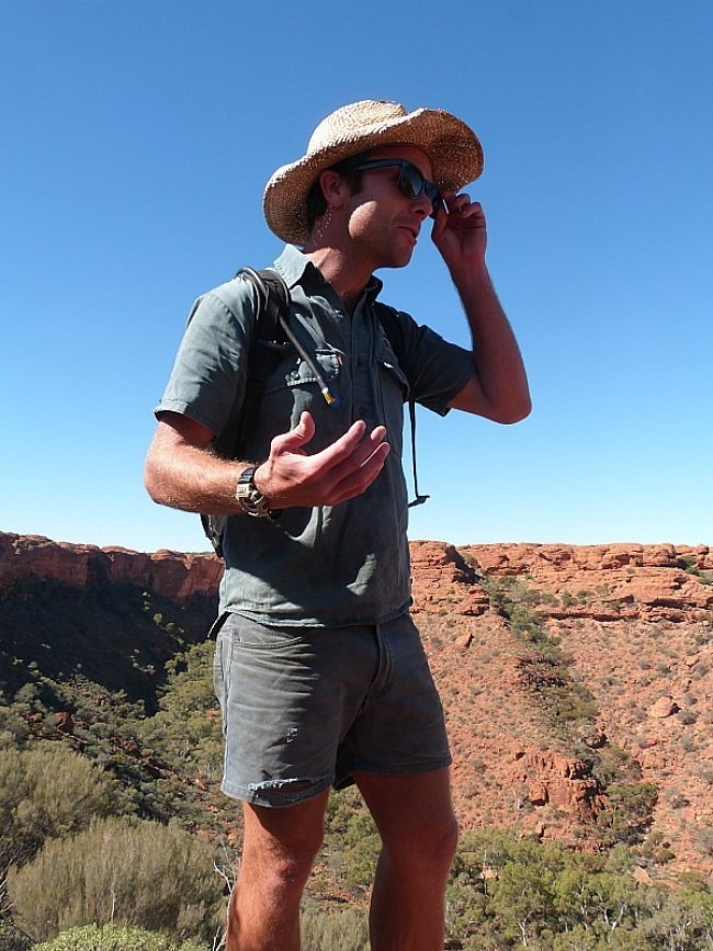 My brother the Tour Guide at Kings Canyon in the Australian Outback