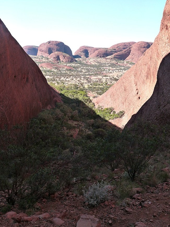 Viewpoint we hiked to at Kata Tjuta, or The Olgas, in the Australian Outback
