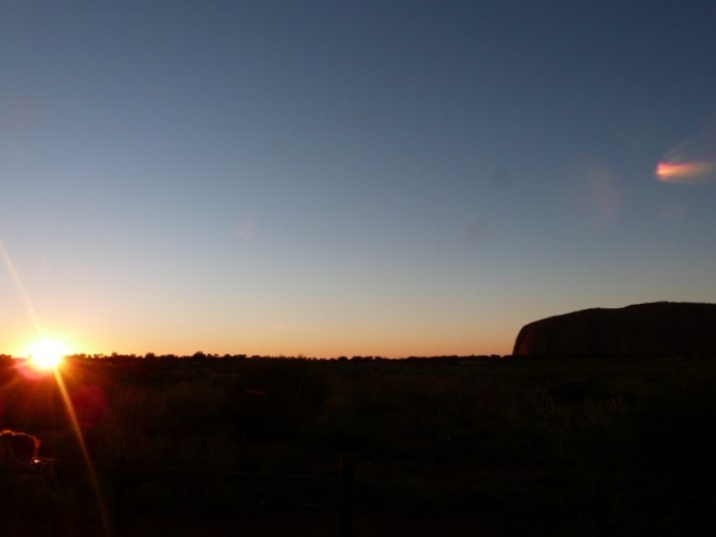Sunrise at Uluru in the Australian Outback