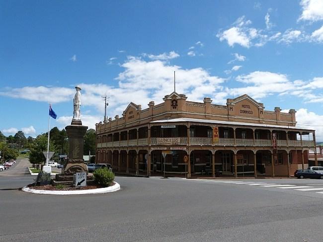 Main Street in Dorrigo, Australia
