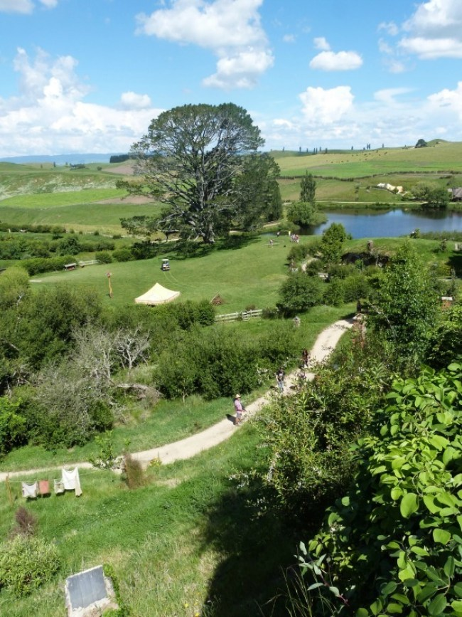 View from Bag End at Hobbiton New Zealand