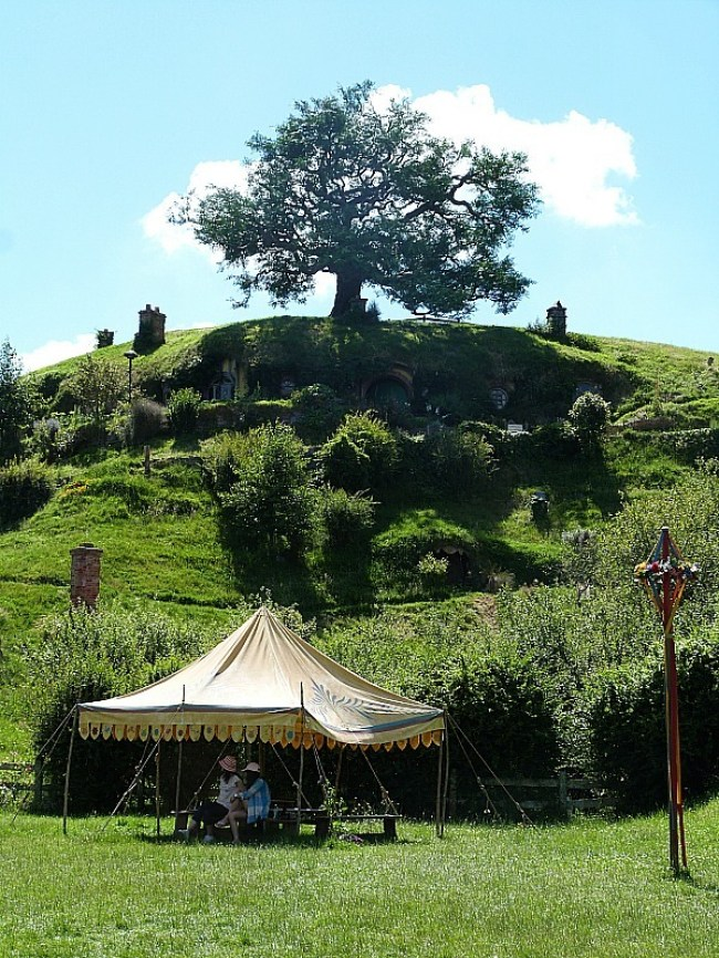 View of Bag End from the Party grounds at Hobbiton