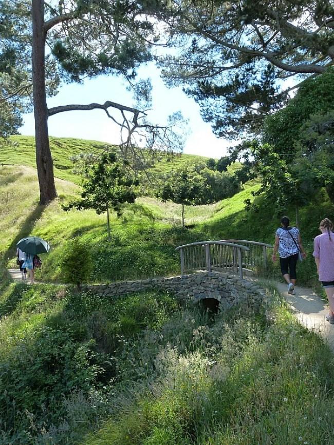 Walking around the Hobbiton Movie Set in New Zealand