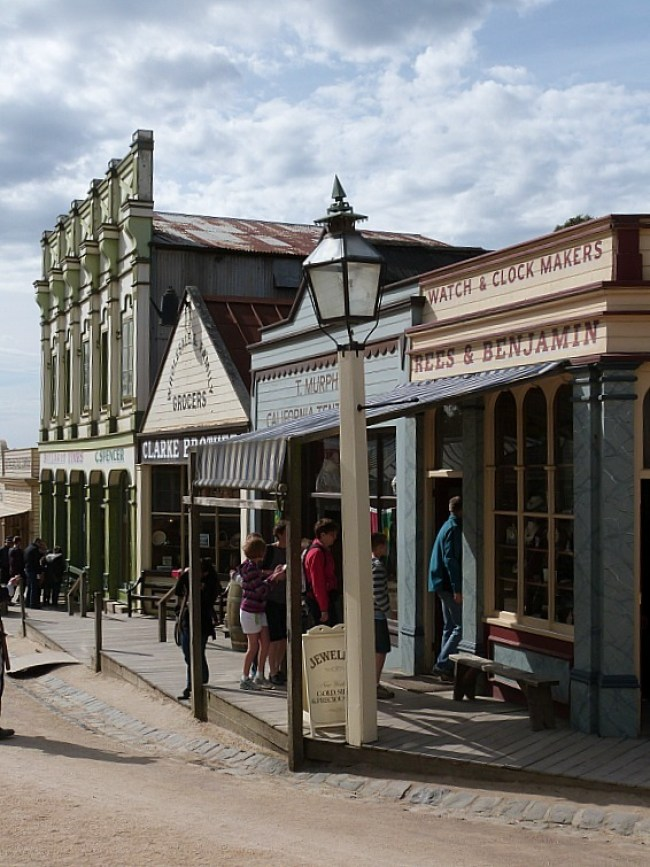 Wandering around Sovereign Hill in Victoria, Australia