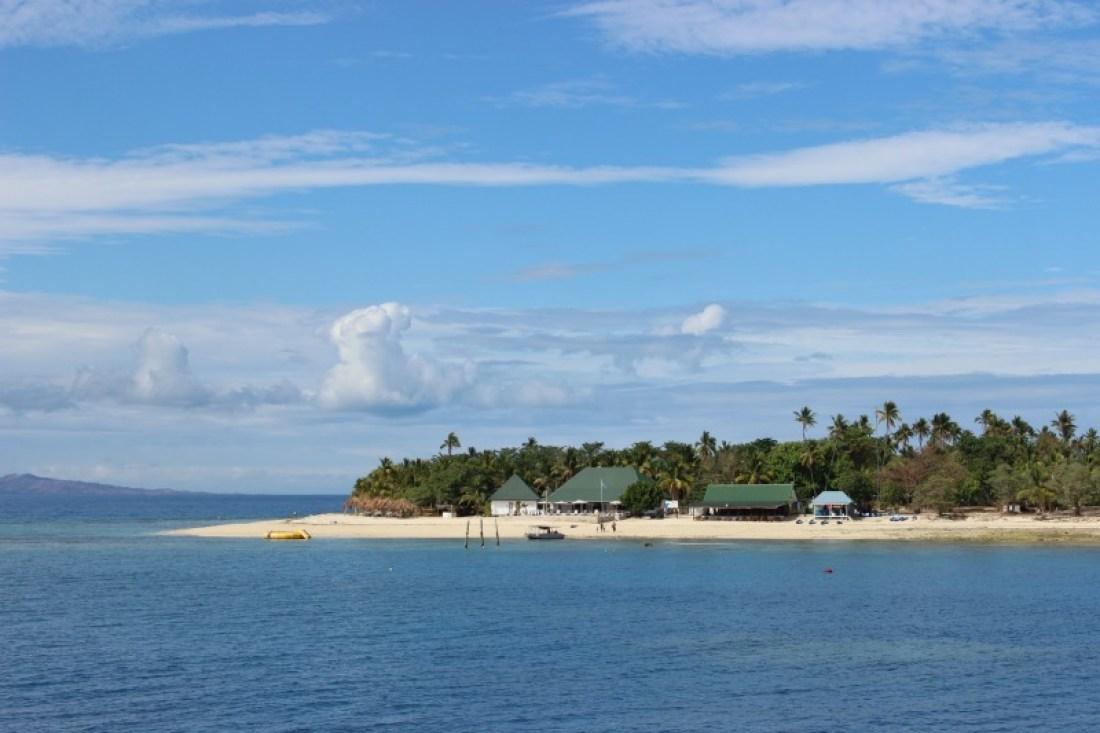 Passing the Mamanuca Islands on the way to the Yasawa Islands of Fiji