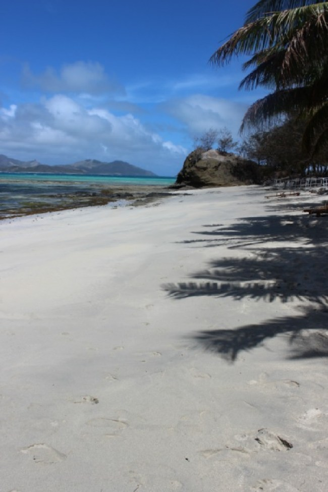 Hiking on Nacula Island in the Yasawa Islands of Fiji