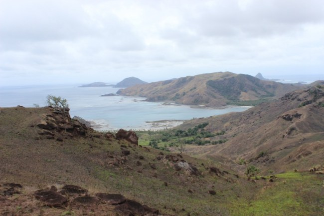 Amazing views while hiking on Nacula Island in the Yasawa Islands of Fiji