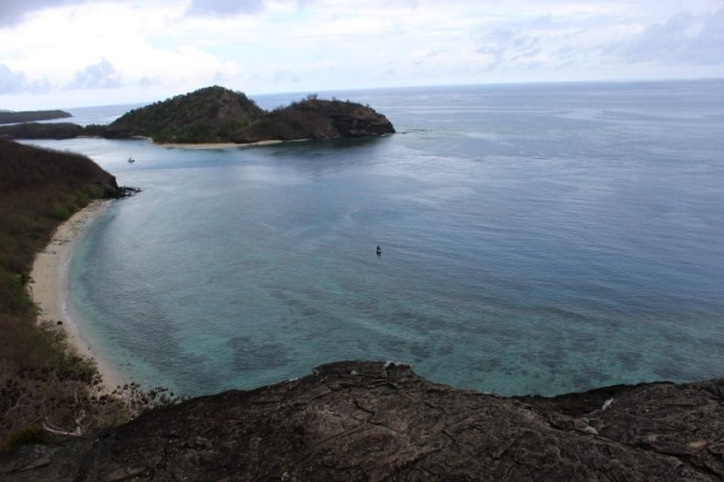 Views while hiking on Barefoot Island in the Yasawa Islands of Fiji