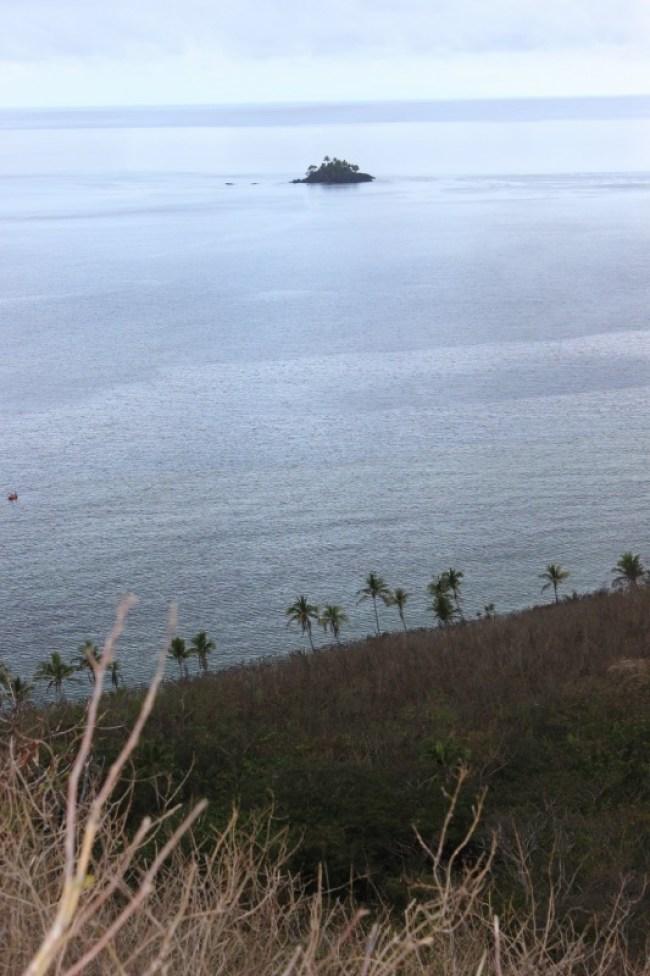 Hiking on Barefoot Island in the Yasawa Islands of Fiji
