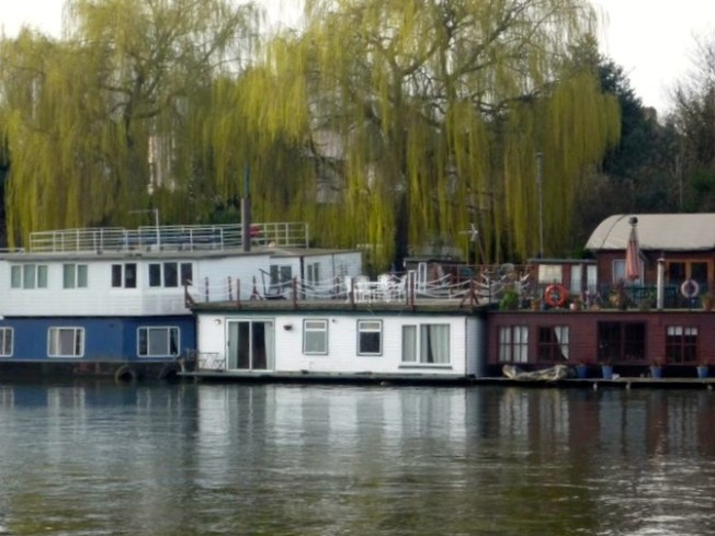 View of our London Houseboat