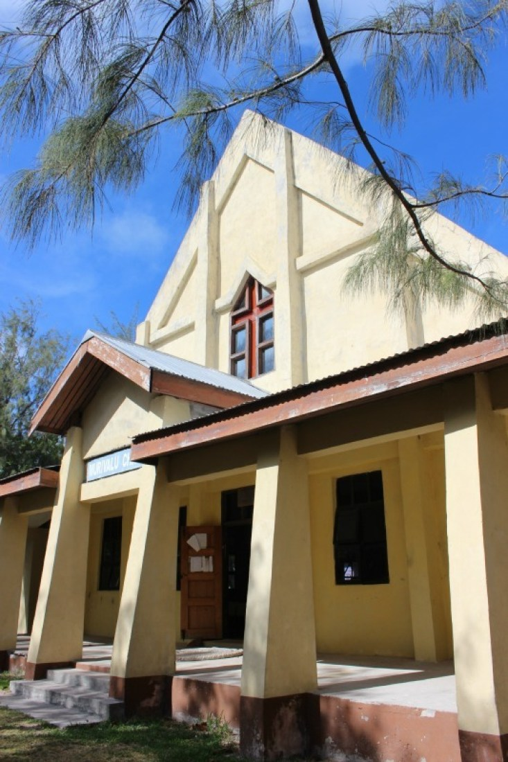 Church in traditional Fijian village in the Yasawa Islands