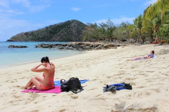 Incredible beach on Barefoot Island in Fiji