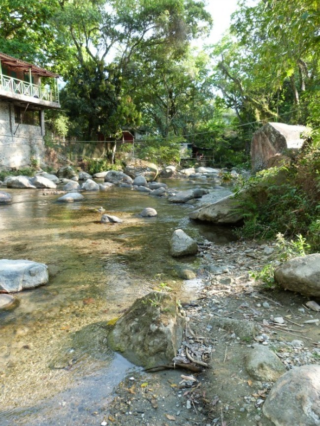 Hanging out at the river in Minca, Colombia - one of the 10 Best Offbeat Places in South America