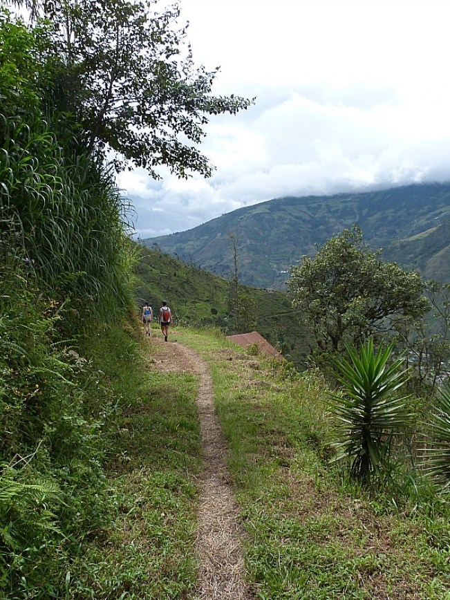 Hiking above Banos, Ecuador - one of the 10 Best Offbeat Places in South America