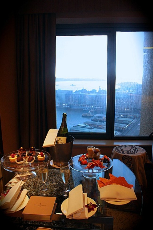 A finger food feast at the Four Seasons Sydney during our staycation