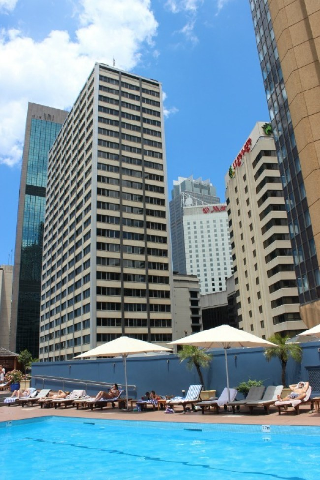 I loved hanging out at the pool during our Four Seasons Sydney staycation