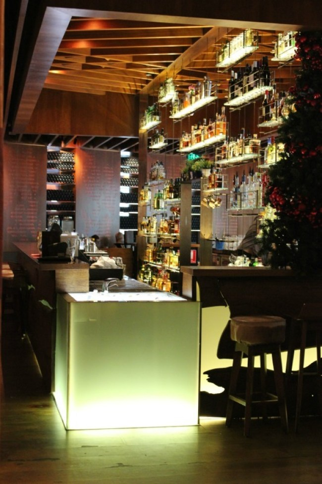 The cool bar at the Four Seasons in Sydney
