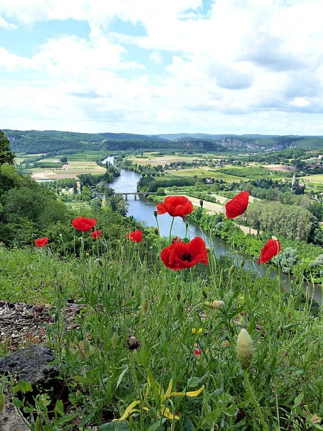 Amazing views from Domme in the Dordogne Region of France