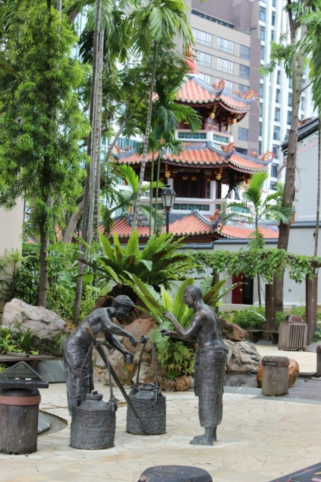 Walking around Chinatown during our 24 hours in Singapore