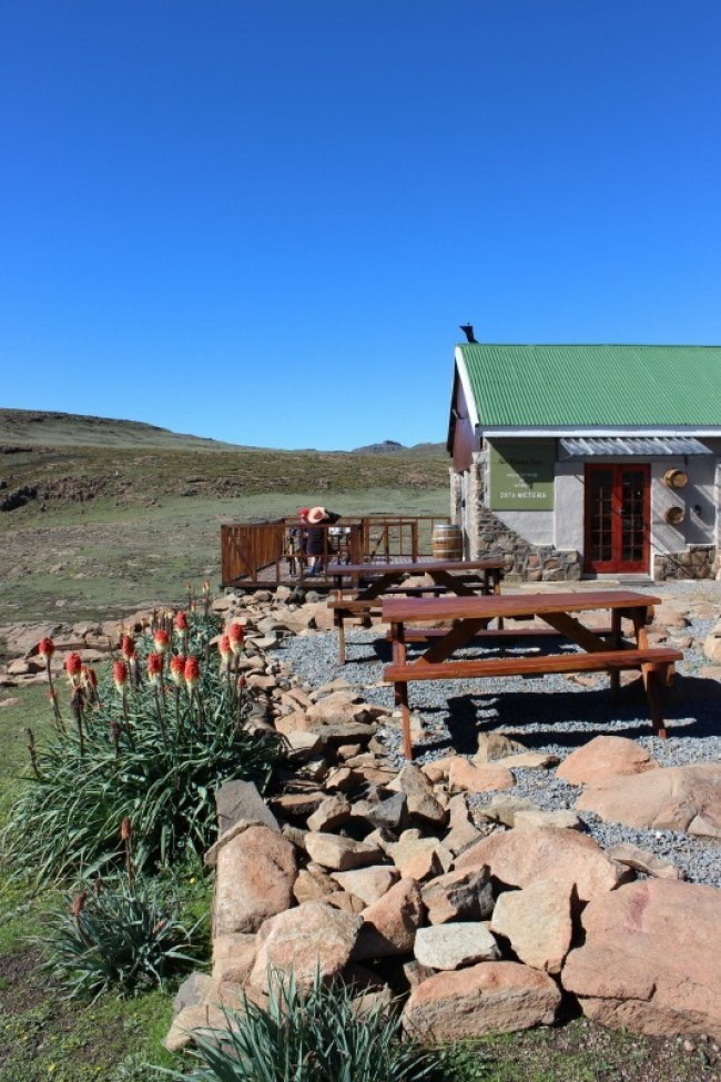 Relaxing at the Sani Mountain Lodge in Sani Top. Lesotho