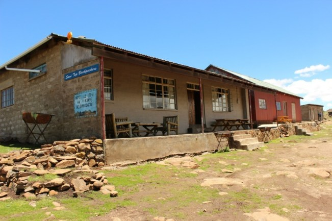 Backpackers at Sani Mountain Lodge in Lesotho
