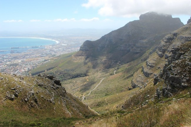 Amazing views from the Platteklip Gorge hike up Table Mountain in Cape Town
