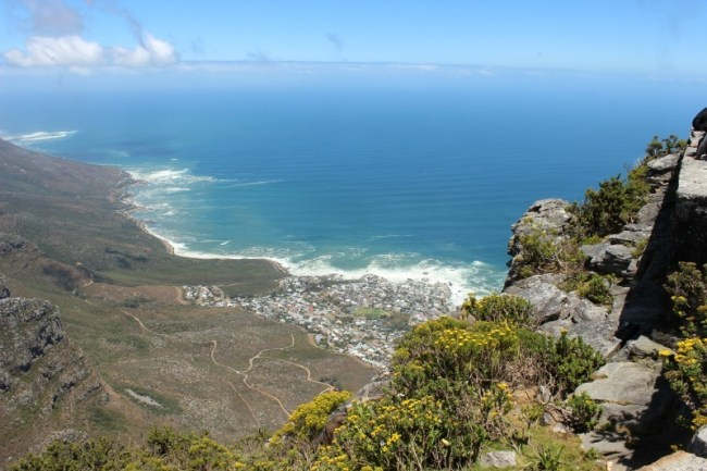 Views from the hike up Table Mountain, one of the highlights of Cape Town